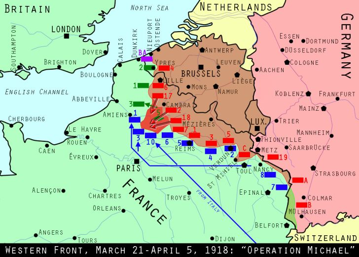 Western Front, March 21, 1918