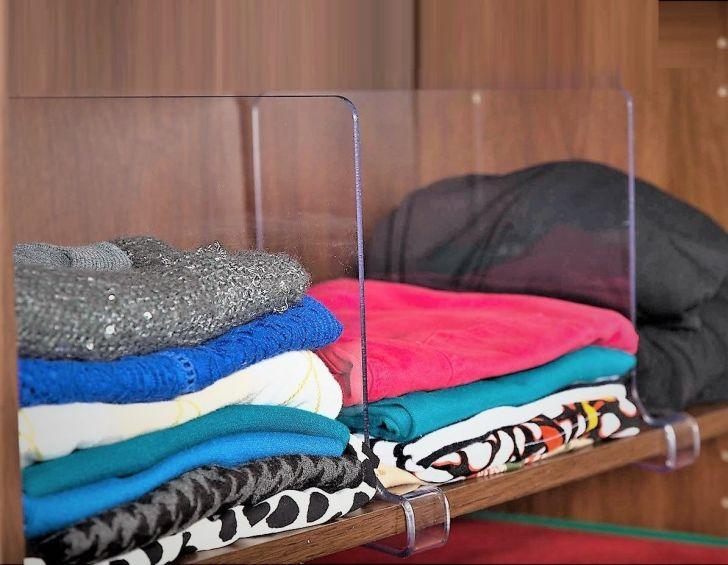 ClosetMate Acrylic Shelf Dividers