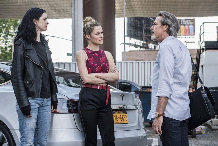 James McCaffrey, Krysten Ritter, and Rachael Taylor in 'Jessica Jones'