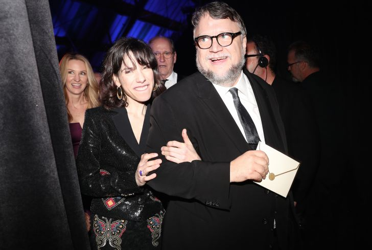 Actor Sally Hawkins (L) and director Guillermo del Toro attend The 23rd Annual Critics' Choice Awards at Barker Hangar on January 11, 2018 in Santa Monica, California.
