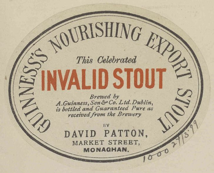 A label for Guinness invalid stout