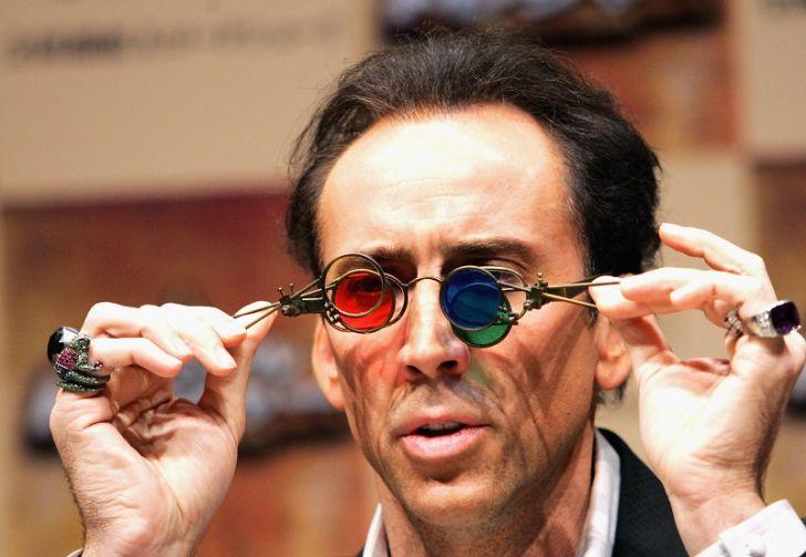 Nicolas Cage appears in Tokyo, Japan in 2004