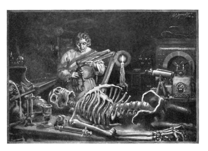 Plate from 1922 edition of Frankenstein