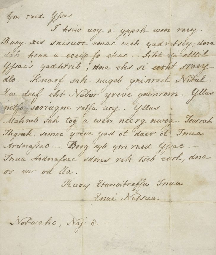 A handwritten letter from Jane Austen