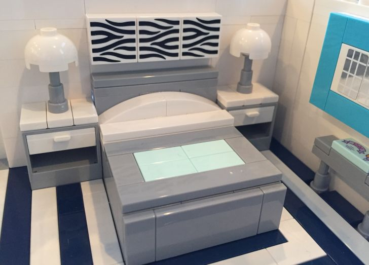 A bedroom made of LEGO