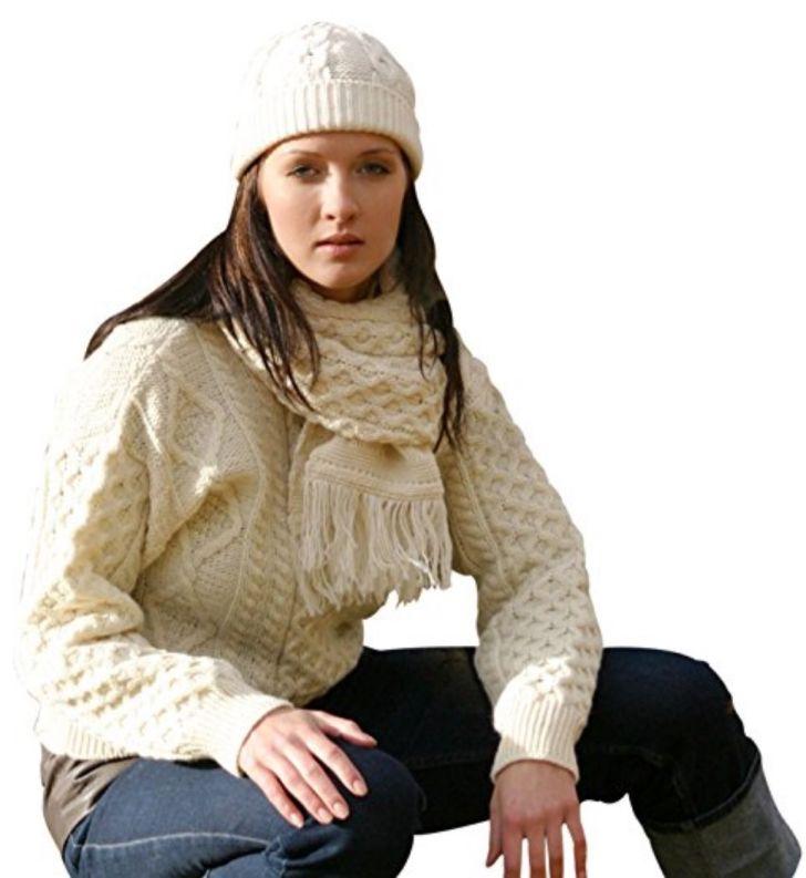Wool Irish Springweight Aran Sweater