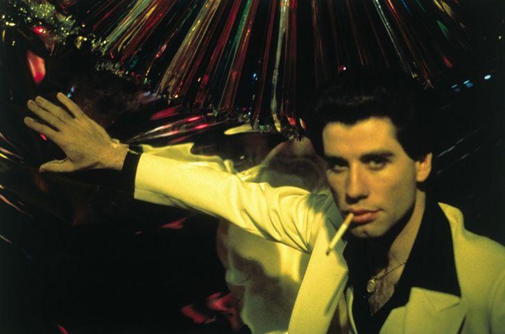 John Travolta stars in Saturday Night Fever (1977)