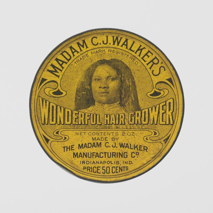 Tin for Madame C.J. Walker's Wonderful Hair Grower
