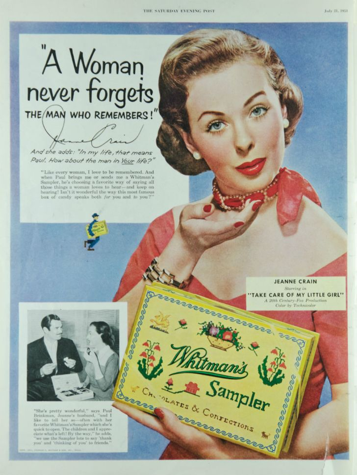 A Whitman's Sampler magazine advertisement