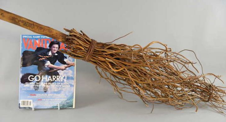 Broom from 'Harry Potter' movie and 'Vanity Fair' magazine.