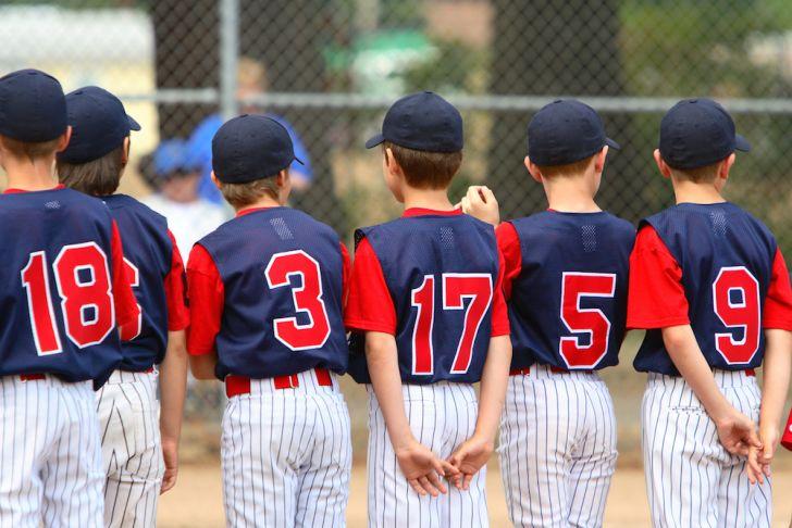 Photo of Little League baseball team