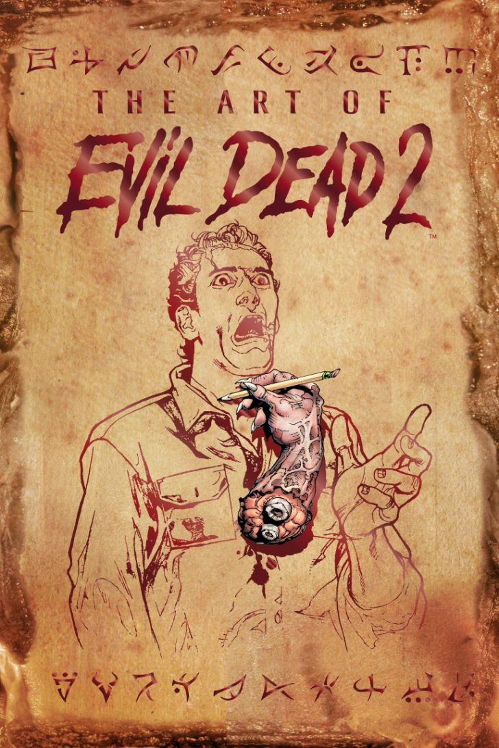The cover to 'The Art of Evil Dead 2' from Space Goat Publishing