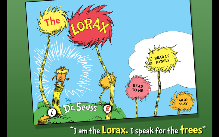 The cover of Dr. Seuss' The Lorax