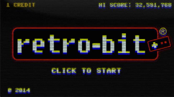 A Retro-Bit startuip screen