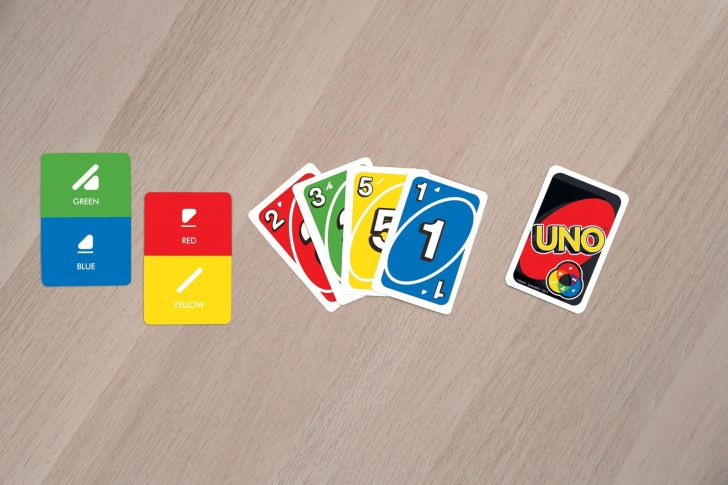 Mattel unveils color-friendly Uno deck