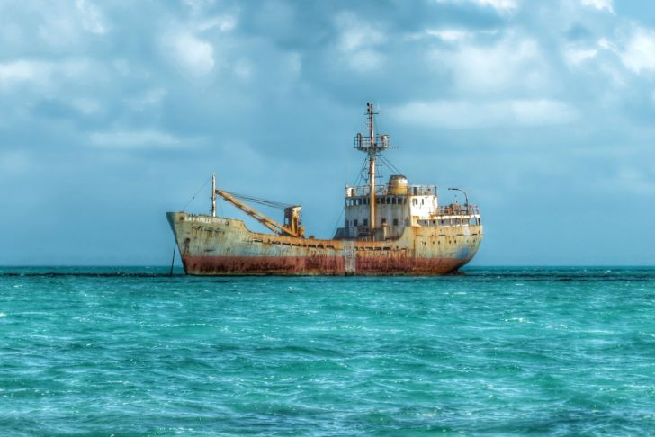 Shipwreck of the La Famille Express in the Turks and Caicos Islands