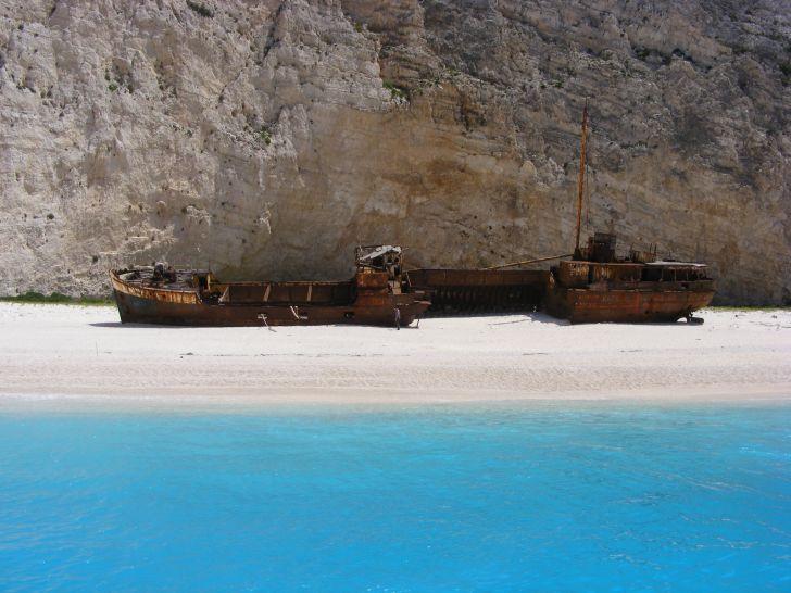 Shipwreck of the MV Panagiotis on Navagio Beach, Greece