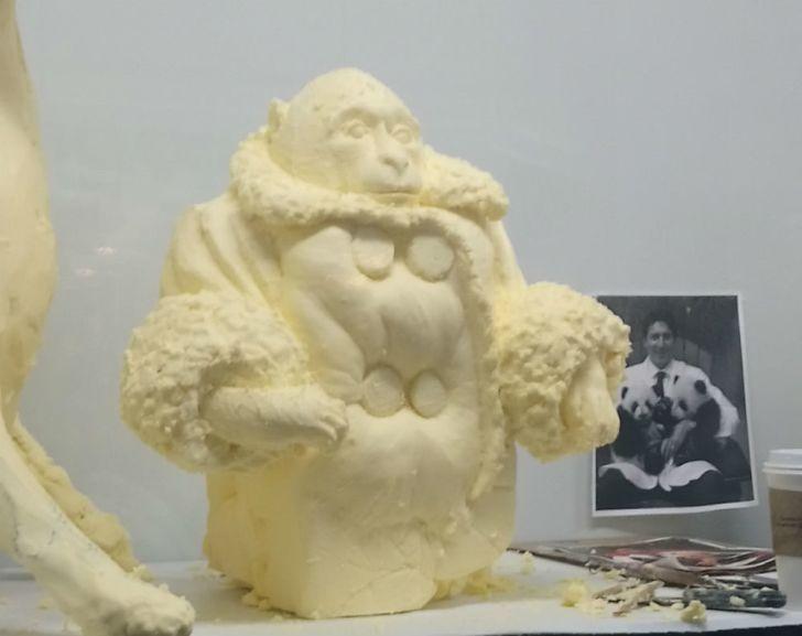 Darwin depicted in butter