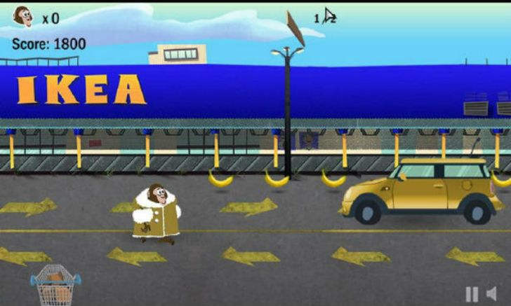A video game based on Darwin's IKEA exploits quickly made the rounds