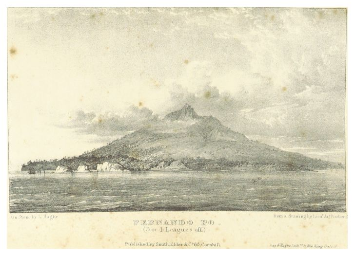 An illustration of Fernando Po, now known as a Bioko.