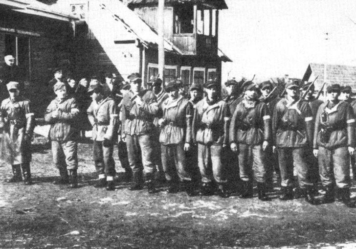 Members of the Polish Home Army, one of the many military groups comprising the Polish Underground resistance.