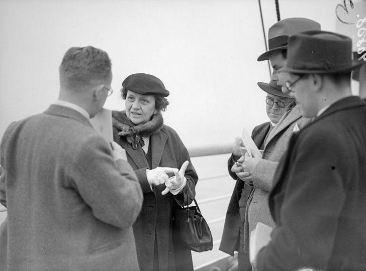Labor Secretary Frances Perkins onboard an ocean liner in 1938