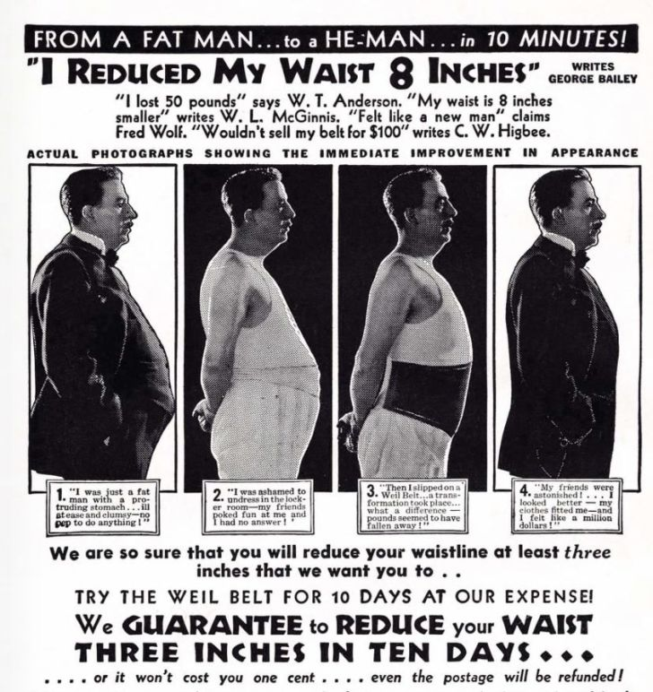 An ad for Weil Reducing Belt