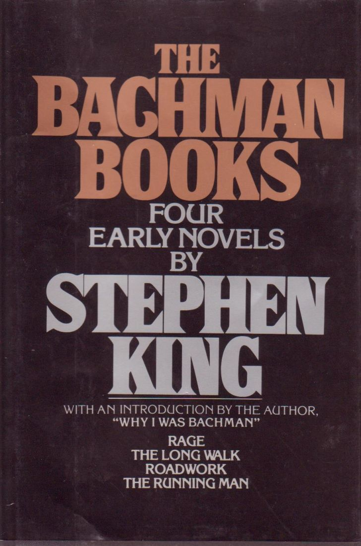 The book jacket for 'The Bachman Books,' a collection authored by Stephen King