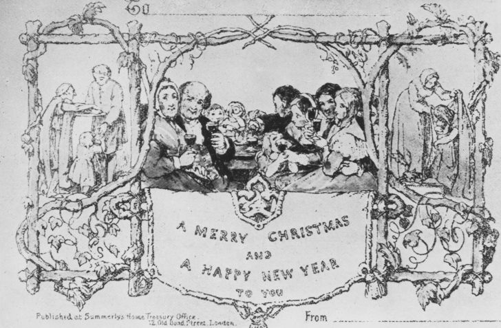 A photo of J.C. Horsley's first Christmas card