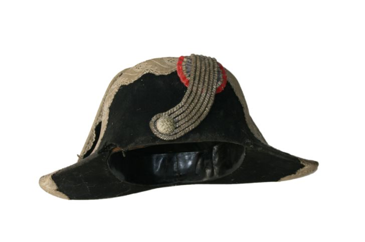 Black bicorne hat