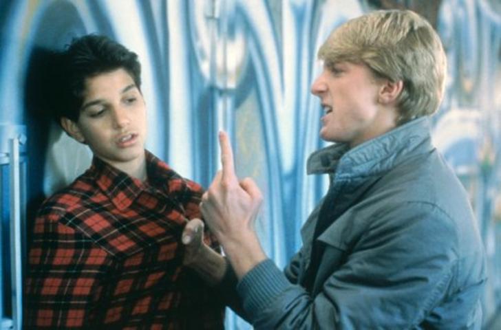 Ralph Macchio and William Zabka in The Karate Kid (1984)