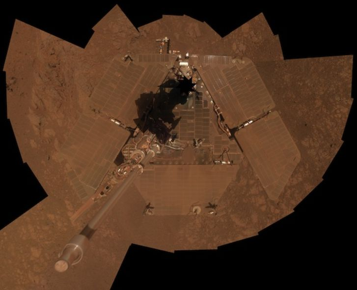 Opportunity rover's self-portrait