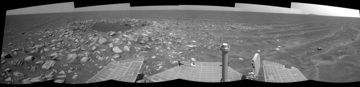 Opportunity rover's photo of SkyLab Crater