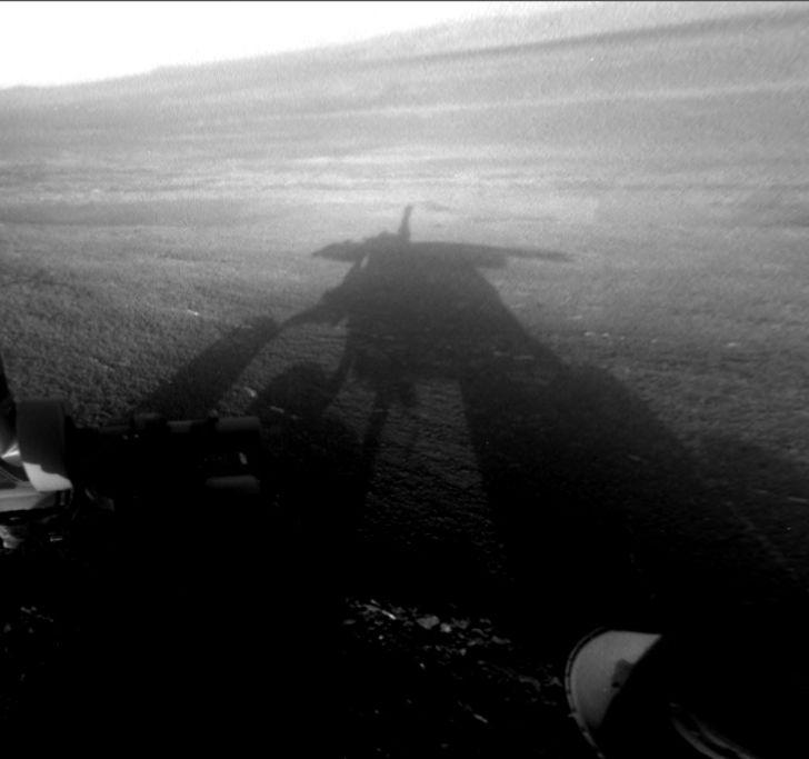 Opportunity rover's selfie