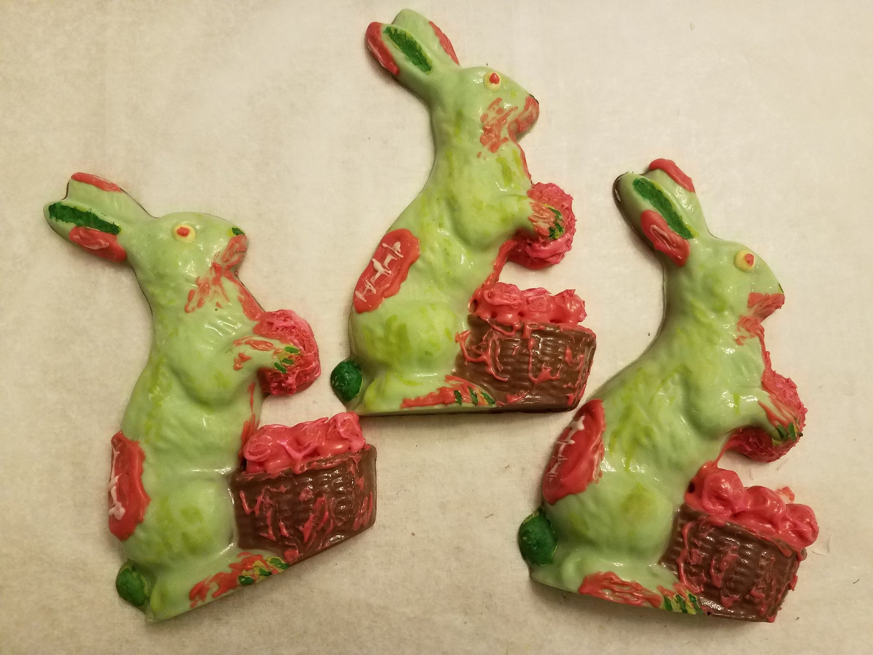 Zombie bunny chocolates