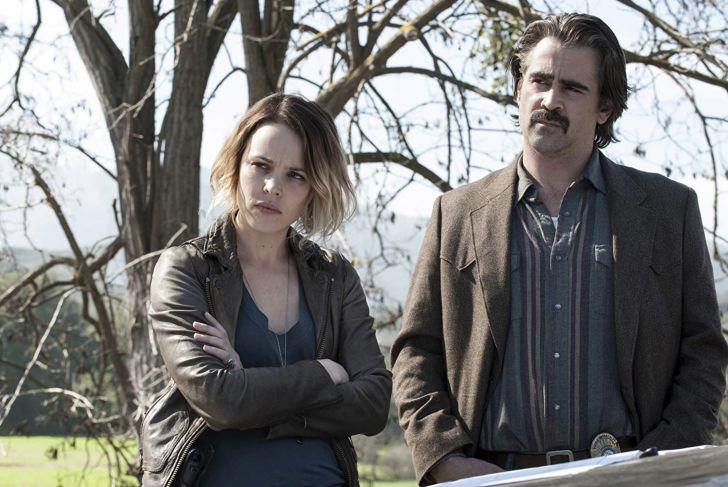 Colin Farrell and Rachel McAdams in True Detective